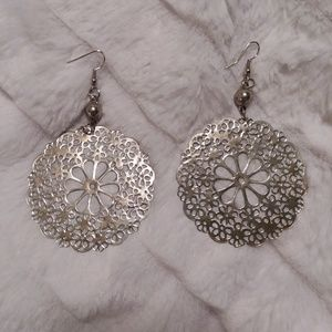 Big Thin Metal Earrings